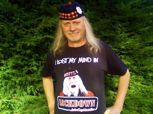 Mick Hughes in his LOCKDOWN Teeshirt